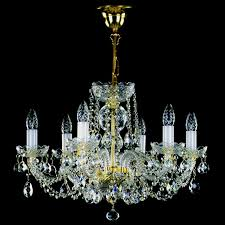 crystal chandelier in size of 60 x 48 cm with 6 light sources is decorated with classic crystal exclusive or swarovski spectra crystal ts