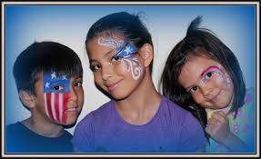 july fourth independence day face paint ideas