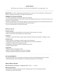 Assistant Marketing Director Resume Templates At