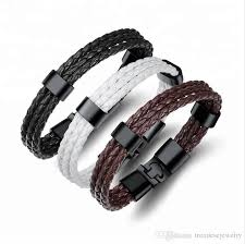 top leather bracelet braided rope italian mens leather bracelets for leather men bracelet
