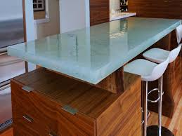 recycled glass kitchen counter design