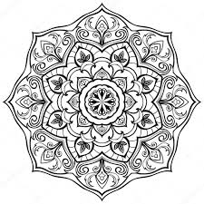 тату круглое круглая стилизованный орнамент векторное изображение