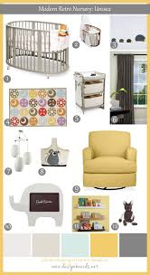 modern retro nursery uni baby design boards this funky is perfect for small room the features unique round crib and space saving coordinating changing