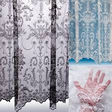 victoria lace curtain boutique damask design sold by the metre net voile