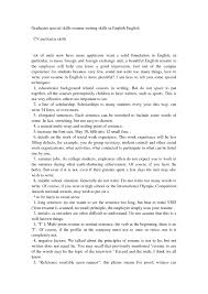 Special Skills Examples It Resume Cover Letter Sample