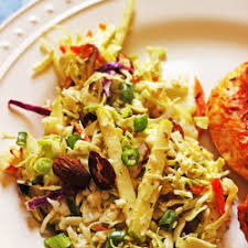 cabbage slaw with apples and almonds