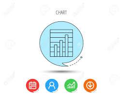 Chart Icon Download Chart Icon Graph Diagram Sign Demand Growth Symbol Calendar