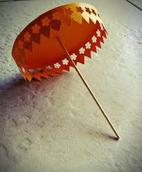 picture of diy paper umbrella