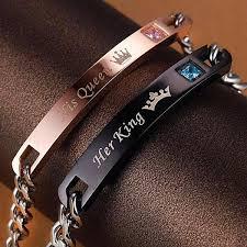 <b>Her King His Queen</b> Bracelets – CouplesChoices