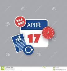 Tax Day Reminder Concept Calendar Design Template Usa