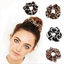 Soft <b>Velvet</b> Leopard Women <b>Hair Accessories</b> Ladies Hair Tie ...