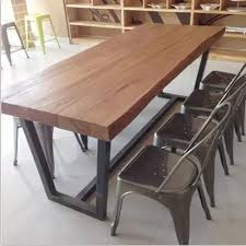 wood and iron furniture. american village coffee bar cafe tables and chairs solid wood furniture desk retro wrought iron l