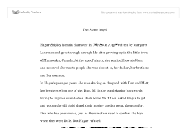 the stone angel essay international baccalaureate languages  document image preview