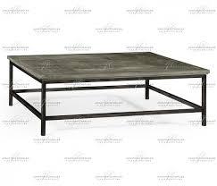 antique dark grey square coffee table