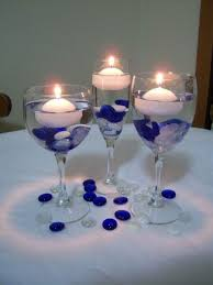 Awesome Idea Wine Glass Centerpiece Wedding Centerpieces Lights Tags Tea  Light Holder
