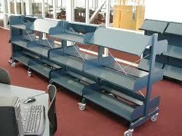 mobile library shelving on wheels