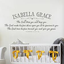 the lord bless you nursery wall decal on numbers 6 24 26 wall art with personalized wall art kids wall decals blessing prayer old