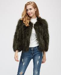 cropped rac fur jacket 972a