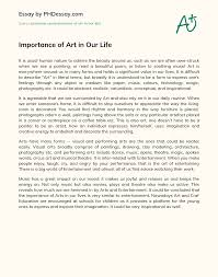 Composing a dissertation proposal on fine art: Importance Of Art In Our Life Phdessay Com