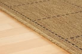 anti slip checked flatweave natural rug