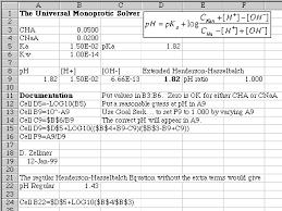 Henderson Hasselbalch Goal Seek For Ph