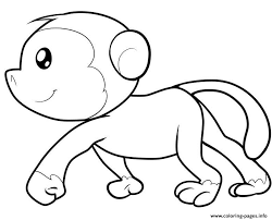 Monkey Printable With Spider Monkey Coloring Pages Printable