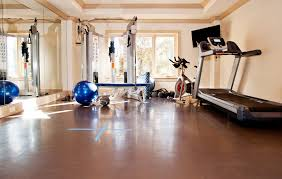... Wonderful Flooring For Exercise Room In Basement Home Gym Flooring Home  Gym Traditional With Basement Builder ...