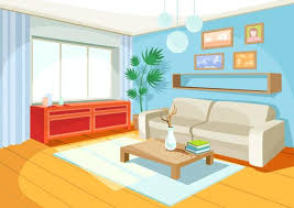 Picture Of A Room Vector Illustration Cozy Cartoon Interior Home