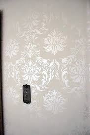 bedroom stencil ideas. living room- antique white paint with pearl stencil cream. bedroom ideas