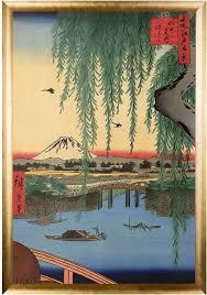 art yatsumi bridge no 45 from one hundred famous views of edo by