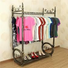2018 high grade wrought iron clothes rack shelf display island ground double row boutique dedicated from jiangdu 6191 dhgatecom boutique clothing racks42