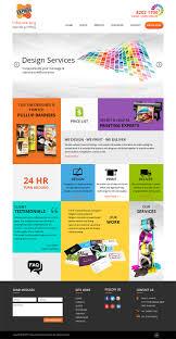 Print Web Design Elegant Playful Printing Web Design For Inhouse Express