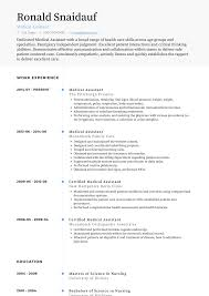 Medical Resume Medical Assistant Resume Samples And Templates Visualcv