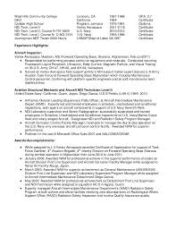 NDI Technician Resume