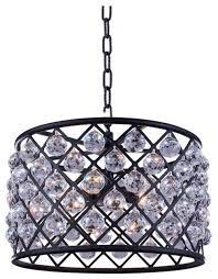 elegant lighting madison 20 6 light royal crystal pendant lamp transitional pendant lighting by homesquare