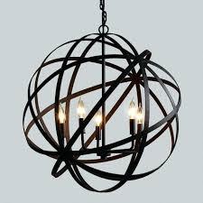 iron orb chandelier light source fluorescent halogen led incandescent number of