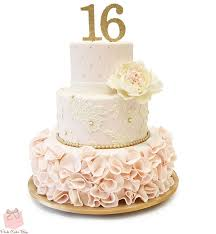 Sweet 16 Ruffle Cake Sweet 16 Cakes 16 Birthday Cakes Sweet 16