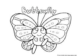 Butterfly Coloring Pages For Kindergarten Butterfly Coloring Pages