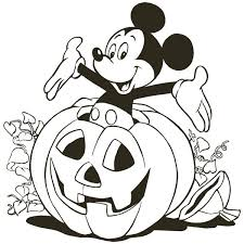 To download our free coloring pages, click on the pumpkin you'd like to color. Mickey Mouse Inside Halloween Pumpkin Coloring Page Color Luna