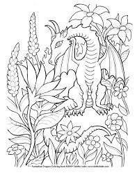 Flower Dragon Coloring Pages 3023 Dragon Adult Coloring Pages