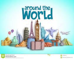 Tourism Banner Design Travel Around The World Vector Banner Design With Travel