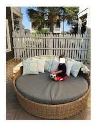 sunbrella round outdoor daybed fitted