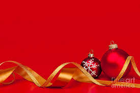 Christmas Photograph - Gold And Red Christmas Decorations by Elena Elisseeva