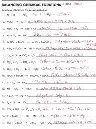 fascinating balancing equations worksheet chemistry 1 also word equations chemistry worksheet answers switchconf of balancing