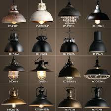 vintage rustic metal lampshade pendant lamp lights retro re shade hanging fixture industrial lighting murano glass