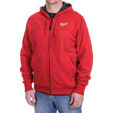 Milwaukee Mens 3x Large M12 12 Volt Lithium Ion Cordless Red Heated Hoodie Kit With 1 1 5ah Battery And Charger