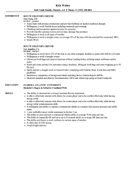 Cover Letter Route Delivery Driver Resume Samples Velvet Jobs