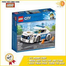 Bộ đồ chơi lắp ráp xe tuần tra cảnh sát 92 mảnh Lego City 60239 - 60239