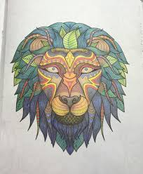 Small Picture Art of Coloring Animals Lions Adult coloring and Coloring books