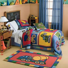 truck theme bedding for boys | Big Rigs Construction Vehicles ... & truck theme bedding for boys | Big Rigs Construction Vehicles Quilt Bedding  - Kids Decorating Ideas Adamdwight.com